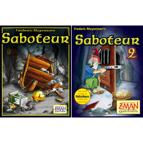 Saboteur 1 & 2 [Card Game, 3-10 Players]
