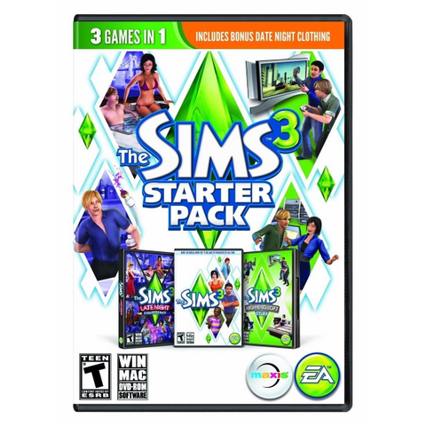 The Sims 3: Starter Pack - 3 Games in 1 + Bonus Expansions [Mac & PC]