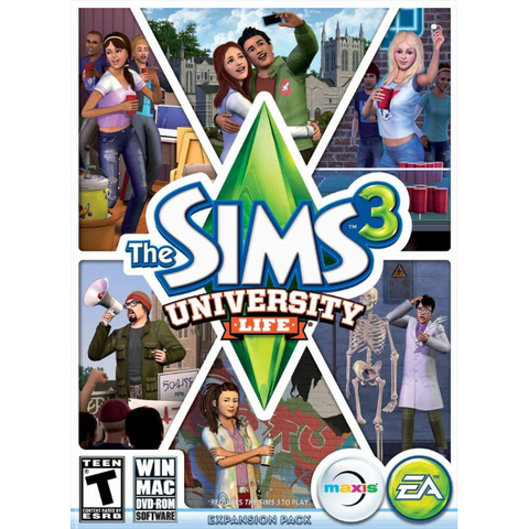 The Sims 3: University Life Expansion Pack [Mac & PC]