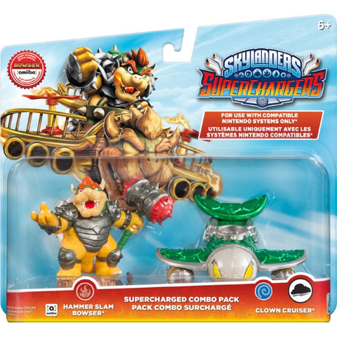 Skylanders Superchargers Supercharged Combo Pack - Hammer Slam Bowser + Clown Cruiser 2-Pack [Nintendo Accessory]