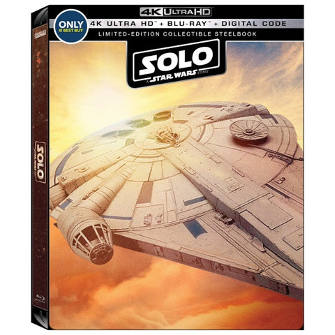 Solo: A Star Wars Story - 4K Limited Edition SteelBook [Blu-Ray + 4K UHD + Digital]
