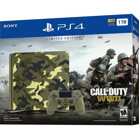 PlayStation 4 Slim Console - Call of Duty: WWII Limited Edition Bundle - 1TB [PlayStation 4 System]