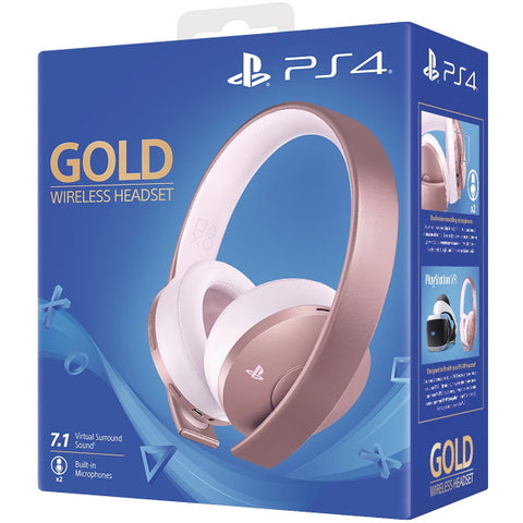 PlayStation Gold Wireless Headset - Rose Gold [PlayStation 4 Accessory]
