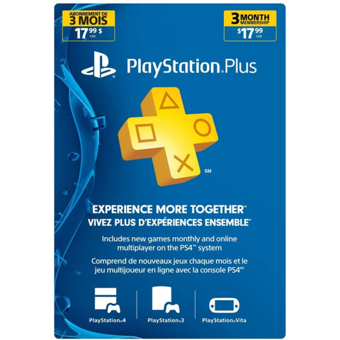 Sony PlayStation Plus Live 3-Month Membership Card [PlayStation Accessory]