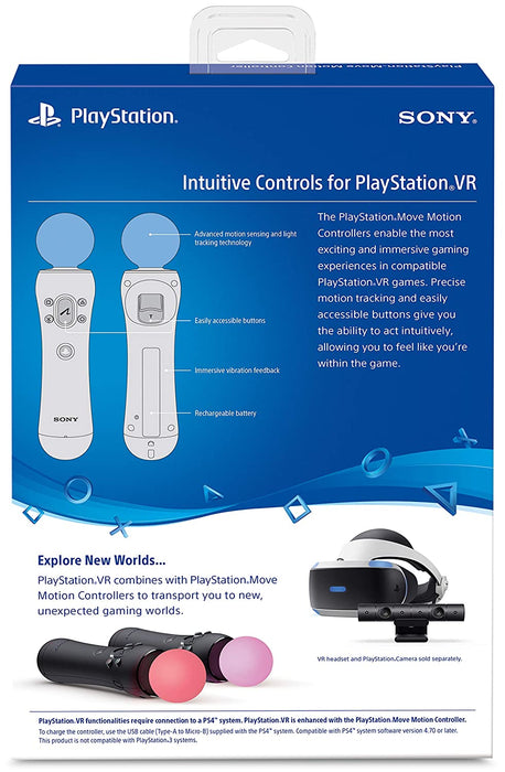 Sony PlayStation VR Move Motion Controller - 2 Pack [PlayStation 4 Accessory]