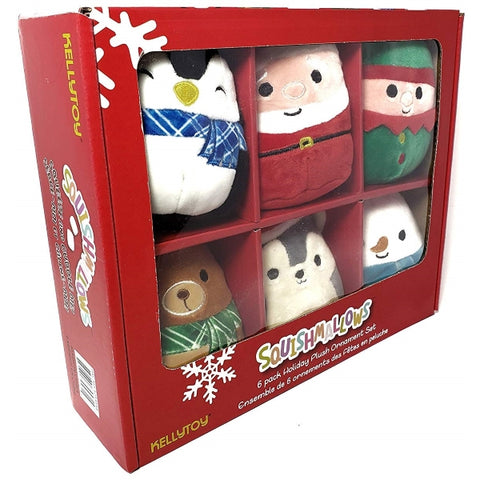 Squishy SquooShems Squishmallows 6-Pack Holiday Ornament Mini Plush Set [Toys, Ages 4+]