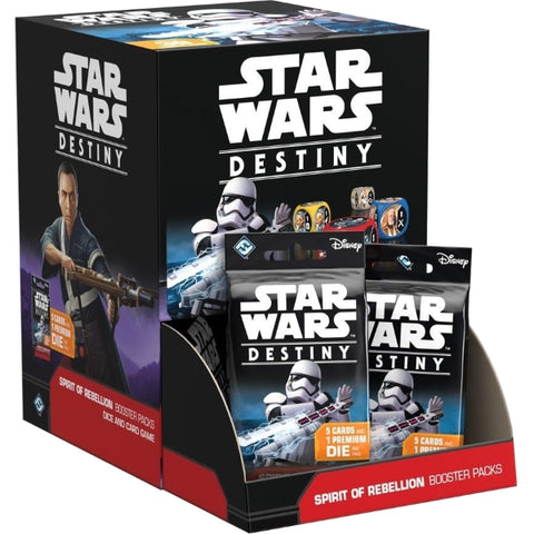 Star Wars Destiny TCG: Spirit of Rebellion Booster Box - 36 Packs, Dice Included [Card Game, Ages 10+]