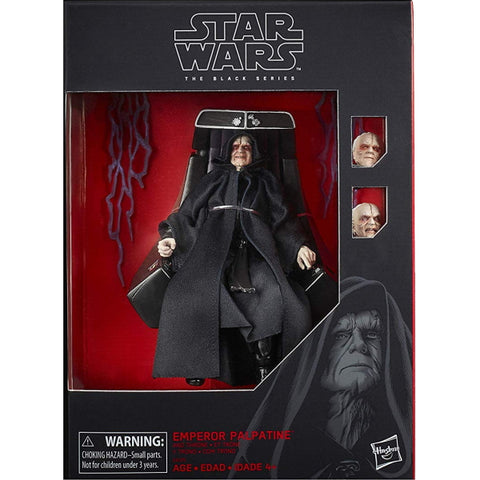 "Star Wars: The Black Series - Emperor Palpatine and Throne 6"" Action Figure [Toys, Ages 3+]"