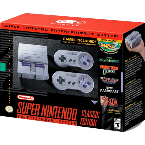 Super Nintendo Entertainment System SNES Classic Edition [Retro System]