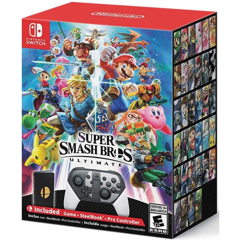 Super Smash Bros. Ultimate - Special Edition w/ SteelBook + Pro Controller [Nintendo Switch]
