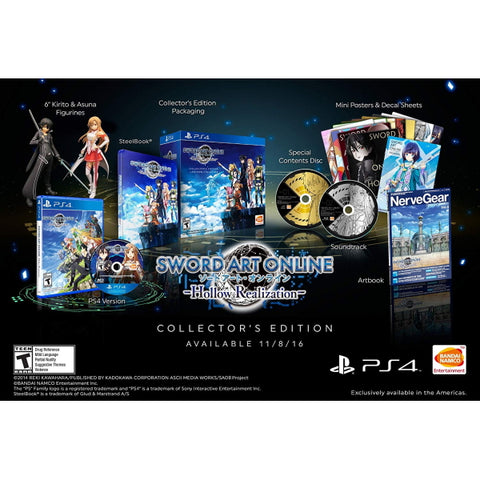 Sword Art Online: Hollow Realization Collectors Edition [PlayStation 4]