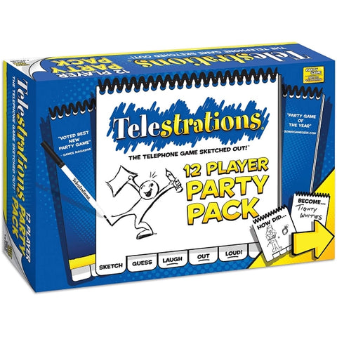 Telestrations 12 Player Party Pack [Board Game, 4-12 Players]