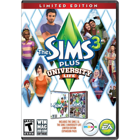 The Sims 3 Plus University Life Expansion Pack - Limited Edition [Mac & PC]