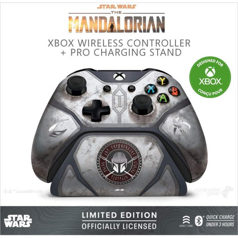 Controller Gear The Mandalorian Xbox Wireless Controller & Xbox Pro Charging Stand [Xbox Series X/S + Xbox One Accessory]