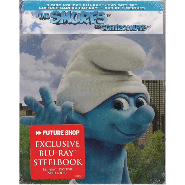 The Smurfs - Limited Edition SteelBook [Blu-ray + DVD + Digital]