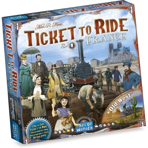 Ticket to Ride Map Collection: Volume 6 – France & Old West [Board Game, 2-6 Players]