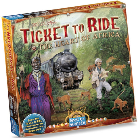 Ticket to Ride Map Collection: Volume 3 – The Heart of Africa Expansion [Board Game, 2-5 Players]