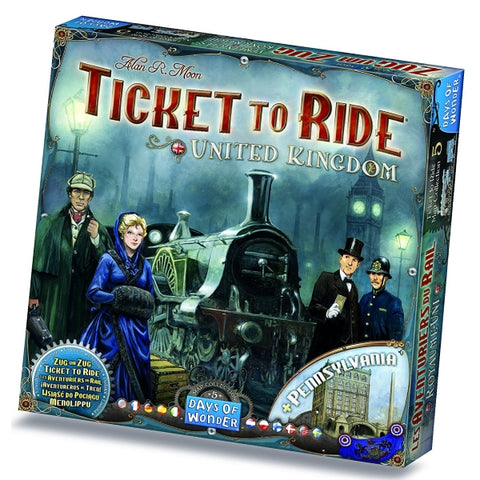 Ticket to Ride Map Collection: Volume 5 – United Kingdom & Pennsylvania [Board Game, 2-5 Players]