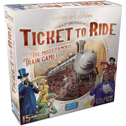 Ticket to Ride - 15th Anniversary Edition [Board Game, 2-5 Players]