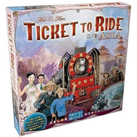 Ticket to Ride: Asia [Board Game, 2-6 Players]