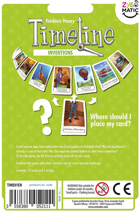 Timeline: Inventions [Card Game, 2-6 Players]