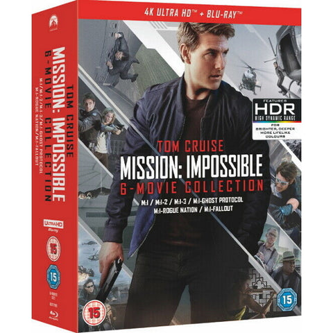 Tom Cruise Mission: Impossible - 6-Movie Collection [Blu-Ray + 4K UHD Box Set]