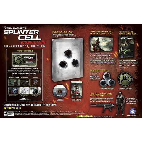 Tom Clancy's Splinter Cell: Conviction - Limited Collector's Edition [Xbox 360]