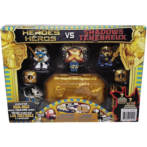 Treasure X: Kings Gold - Heroes VS Shadows Playset w/ Guaranteed Real Gold Dipped Treasure Inside [Toys, Ages 5+]