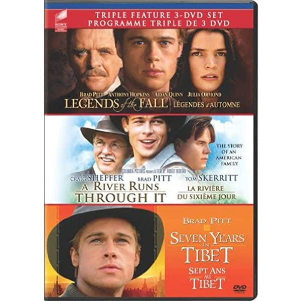 Triple Feature: Legends of the Fall / A River Runs Through It / Seven Years in Tibet [DVD Box Set]