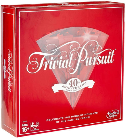 Trivial Pursuit 40th Anniversary Ruby Edition [Board Game, 2-6 Players]