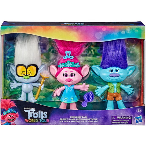 Trolls World Tour Friendship Pack - 3-Piece Doll Set [Toys, Ages 4+]