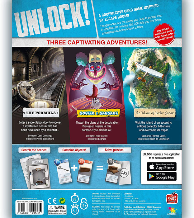 Unlock! Escape Adventures [Card Game, 1-6 Players, Ages 10+]