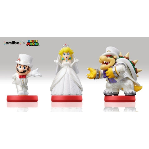 Wedding Outfit Mario + Peach + Bowser Amiibo 3-Pack - Super Mario Odyssey Series [Nintendo Accessory]