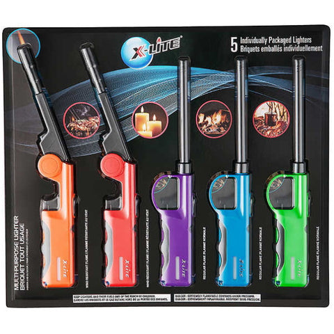 X-Lite Multi-Purpose Lighters - Pack of 5 [House & Home]