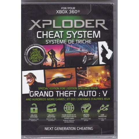 Xploder Cheat System For Xbox 360 - Special Edition For Grand Theft Auto V + Hundreds More Games [Xbox 360 Accessory]