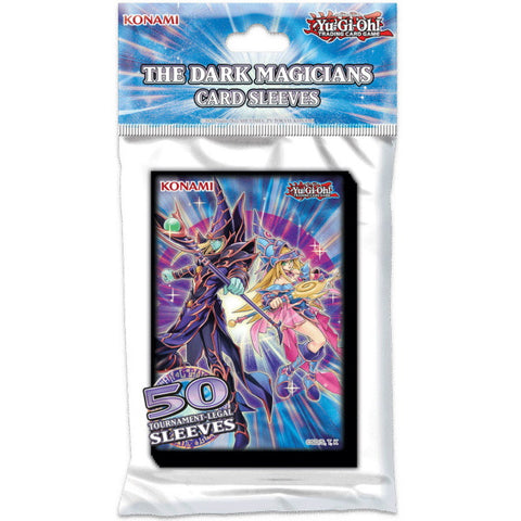 Yu-Gi-Oh! Trading Card Game: The Dark Magicians Card Sleeves - 50 Sleeves [Card Game, 2 Players]