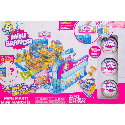 Zuru 5 Surprise Mini Brands Mini Mart w/ 3 Bonus Capsules [Toys, Ages 3+]