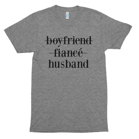BOYFRIEND, FIANCE, HUSBAND WEDDING/MARRIED T-SHIRT