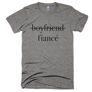 BOYFRIEND, FIANCE, WEDDING/MARRIED T-SHIRT