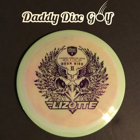 Discmania FD3 Swirly S-Line Fairway Driver with Doom Bird 2 Simon Lizotte Signature Series Stamp