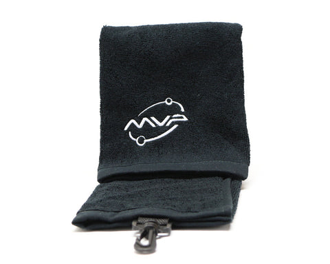 Black MVP w/ white Orbit Logo Towel