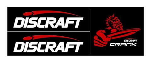 Discraft Tri Panel Crank Stickers