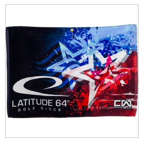 Latitude 64 Full Color Sublimated Towel Stars