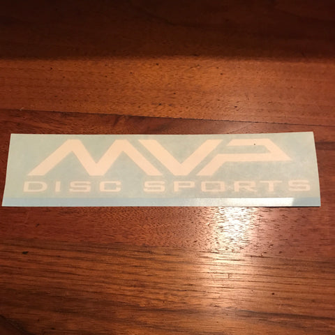 MVP Discs White Vinyl Decal