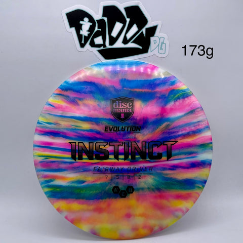 Discmania Evolution Neo Instinct Fairway Driver w/ Custom Jeff Ash Dye