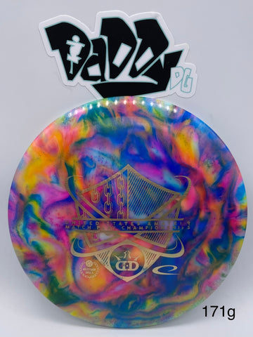**NEW** Custom Jeff Ash Dyed Dynamic Discs Escape Lucid-X Fairway Driver w/ United States Amateur Match Play Championships Stamp