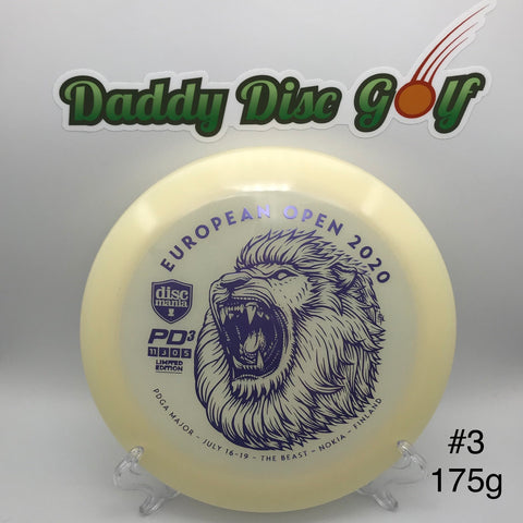**NEW** Discmania PD3 Glow C-line - Limited Edition European Open 2020 Stamp
