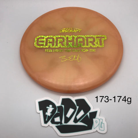 Discraft Z-Line Zone - 2020 Tour Series Brian Earhart Stamped Putt & Approach