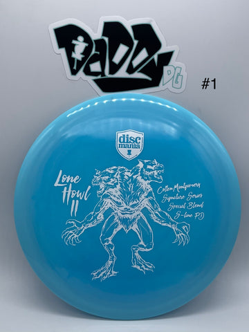 Discmania Swirl S-Line PD with Colten Montgomery's Signature Lone Howl 2 Stamp