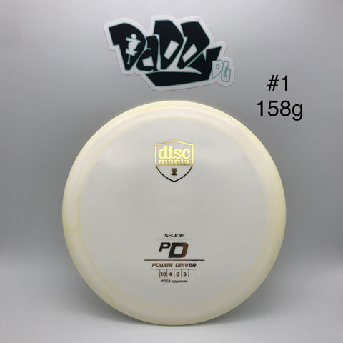 Discmania PD S-Line Driver *NEWLY RE-STOCKED w/ lightweights*